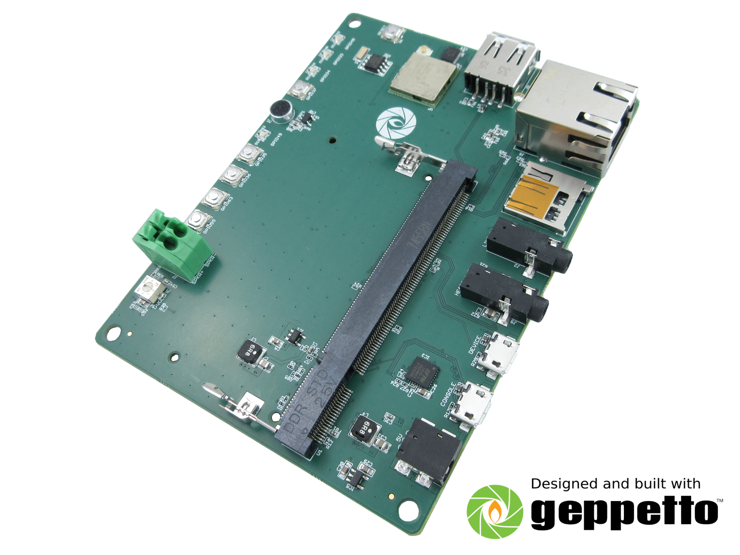 Gumstix Colibri iMX7 Chatterbox (Amazon Alexa Voice Service evaluation board) image