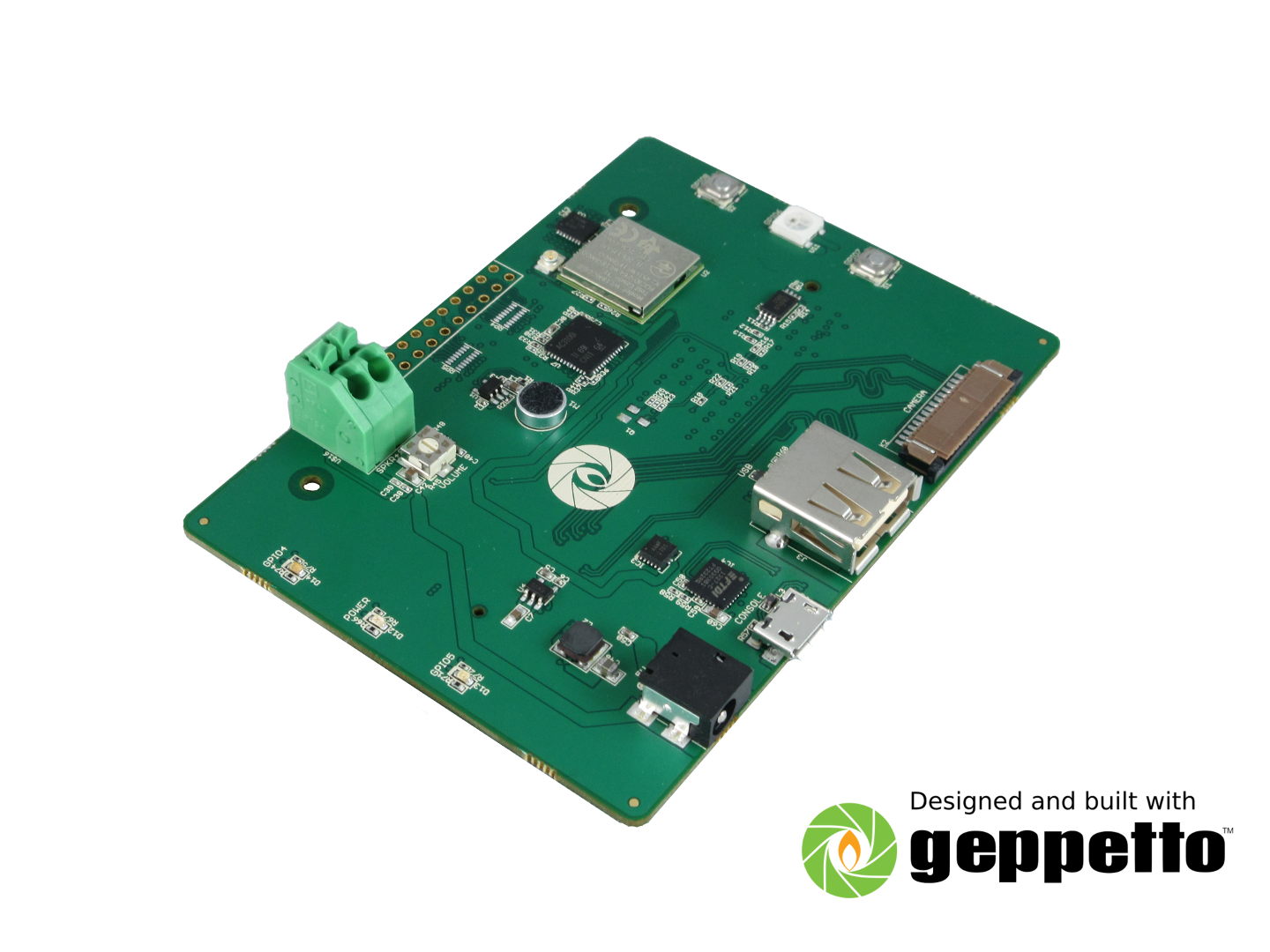 Gumstix iMX7 Chatterbox for Raspberry Pi compute module (Amazon Alexa Voice Service evaluation board) image